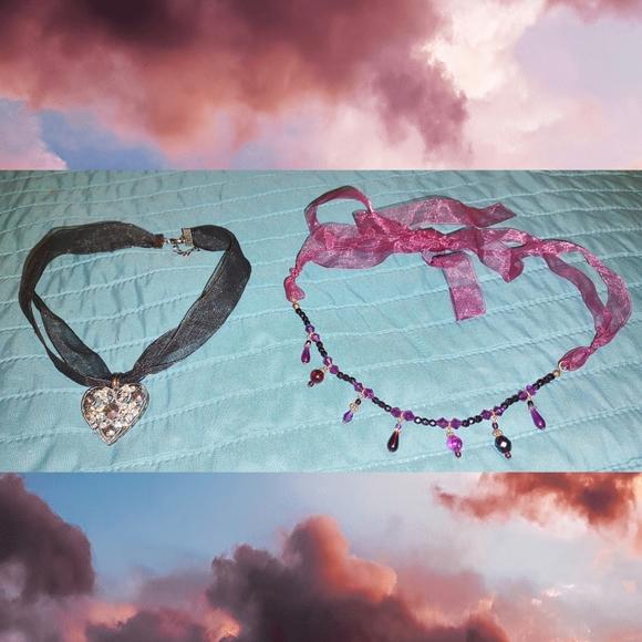 2 beautiful choker style necklaces
